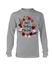NOT TODAY SATAN - WARRIOR OF CHRIST Long Sleeve Tee thumbnail