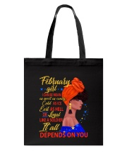 FEBRUAR GIRL - IT ALL DEPENDS ON YOU Tote Bag thumbnail