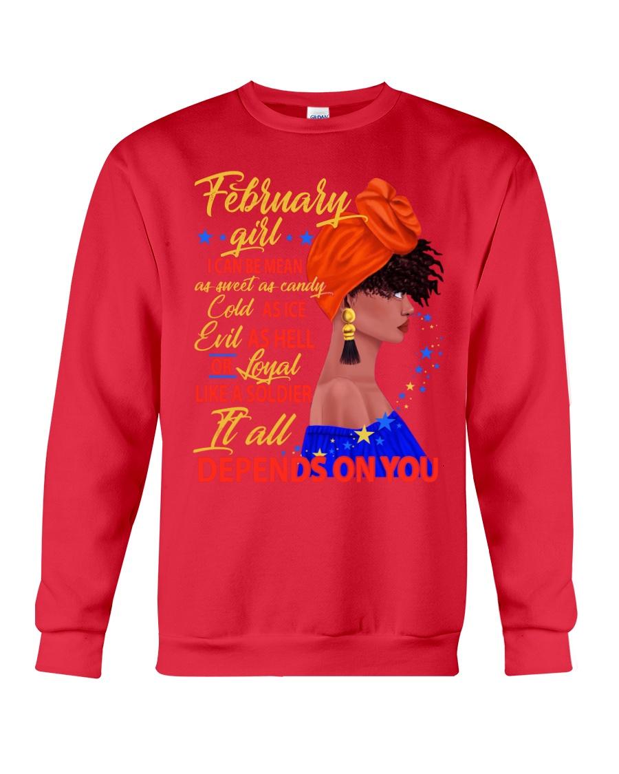 FEBRUAR GIRL - IT ALL DEPENDS ON YOU Crewneck Sweatshirt