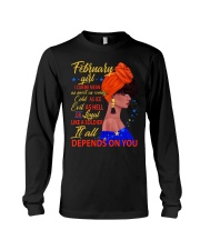 FEBRUAR GIRL - IT ALL DEPENDS ON YOU Long Sleeve Tee thumbnail