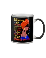 FEBRUAR GIRL - IT ALL DEPENDS ON YOU Color Changing Mug thumbnail