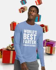 WORLD'S BEST FARTER - I MEAN FATHER Long Sleeve Tee lifestyle-holiday-longsleeves-front-5