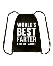 WORLD'S BEST FARTER - I MEAN FATHER Drawstring Bag thumbnail