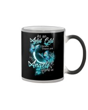 APRIL GIRL BELIEVE THERE ARE ANGELS AMONG US Color Changing Mug thumbnail