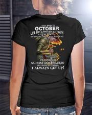 I ALWAYS GET UP - OCTOBER Ladies T-Shirt lifestyle-women-crewneck-back-3
