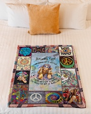 """JANUARY GIRL - THE SOUL OF A GYPSY Small Fleece Blanket - 30"""" x 40"""" aos-coral-fleece-blanket-30x40-lifestyle-front-04"""