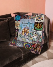 """JANUARY GIRL - THE SOUL OF A GYPSY Small Fleece Blanket - 30"""" x 40"""" aos-coral-fleece-blanket-30x40-lifestyle-front-05"""