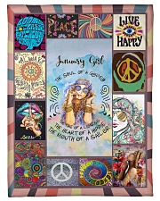 """JANUARY GIRL - THE SOUL OF A GYPSY Small Fleece Blanket - 30"""" x 40"""" front"""