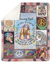 "JANUARY GIRL - THE SOUL OF A GYPSY Sherpa Fleece Blanket - 50"" x 60"" thumbnail"