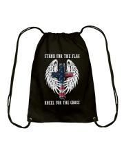 STAND FOR THE FLAG - WARRIOR OF CHRIST Drawstring Bag thumbnail