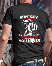 AS A MAY GUY - I HAVE 3 SIDES Classic T-Shirt lifestyle-mens-crewneck-back-2