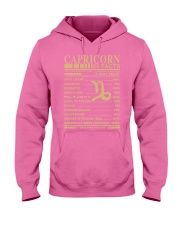 CAPRICORN FACTS Hooded Sweatshirt front