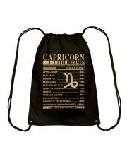 CAPRICORN FACTS Drawstring Bag thumbnail