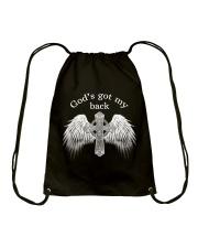 GOD'S GOT MY BACK - WARRIOR OF CHRIST Drawstring Bag thumbnail