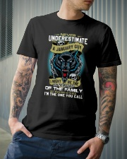 NEVER UNDERESTIMATE A JANUARY GUY Classic T-Shirt lifestyle-mens-crewneck-front-6