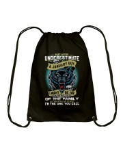 NEVER UNDERESTIMATE A JANUARY GUY Drawstring Bag thumbnail