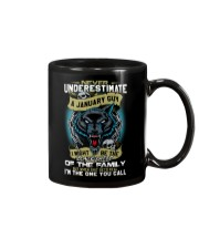 NEVER UNDERESTIMATE A JANUARY GUY Mug thumbnail