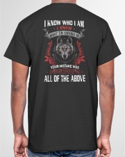 WOLVES - I KNOW WHO I AM Classic T-Shirt garment-tshirt-unisex-back-04