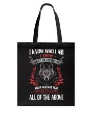 WOLVES - I KNOW WHO I AM Tote Bag thumbnail
