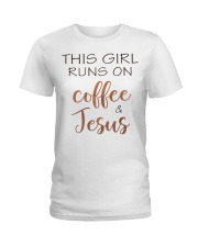 COFFEE AND JESUS - WARRIOR OF CHRIST Ladies T-Shirt front