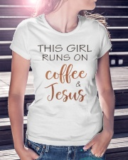 COFFEE AND JESUS - WARRIOR OF CHRIST Ladies T-Shirt lifestyle-women-crewneck-front-7