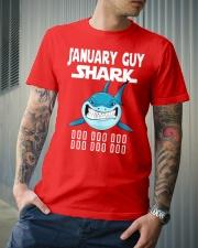 JANUARY GUY SHARK DOO DOO DOO Classic T-Shirt lifestyle-mens-crewneck-front-6