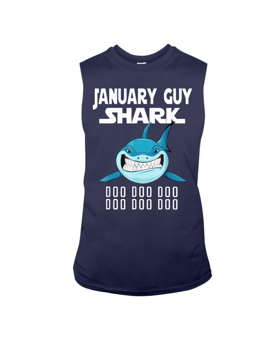 JANUARY GUY SHARK DOO DOO DOO Sleeveless Tee