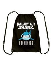 JANUARY GUY SHARK DOO DOO DOO Drawstring Bag thumbnail