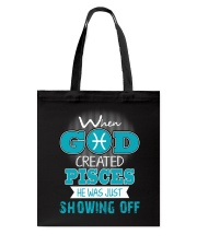 WHEN GOD REATED PISCES Tote Bag thumbnail