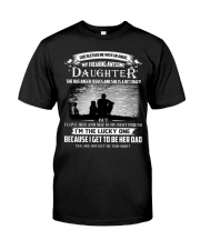 GOD BLESSED ME WITH AN ANGEL MY AWESOME DAUGHTER Classic T-Shirt thumbnail