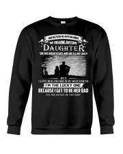 GOD BLESSED ME WITH AN ANGEL MY AWESOME DAUGHTER Crewneck Sweatshirt thumbnail