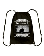 GOD BLESSED ME WITH AN ANGEL MY AWESOME DAUGHTER Drawstring Bag tile