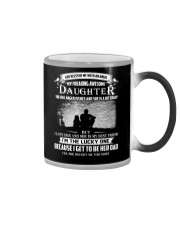 GOD BLESSED ME WITH AN ANGEL MY AWESOME DAUGHTER Color Changing Mug tile