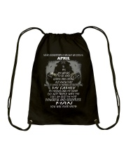 NEVER UNDERESTIMATE A MAN WHO WAS BORN IN APRIL Drawstring Bag thumbnail