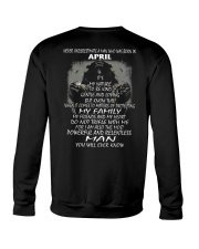 NEVER UNDERESTIMATE A MAN WHO WAS BORN IN APRIL Crewneck Sweatshirt thumbnail