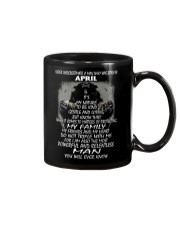 NEVER UNDERESTIMATE A MAN WHO WAS BORN IN APRIL Mug thumbnail