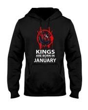 KINGS ARE BORN IN JANUARY Hooded Sweatshirt thumbnail