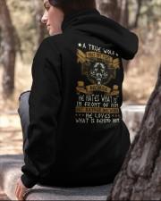 WOLVES - A TRUE WOLF Hooded Sweatshirt apparel-hooded-sweatshirt-lifestyle-06