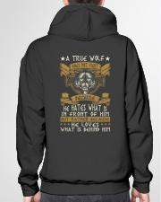 WOLVES - A TRUE WOLF Hooded Sweatshirt garment-hooded-sweatshirt-back-04
