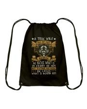 WOLVES - A TRUE WOLF Drawstring Bag thumbnail