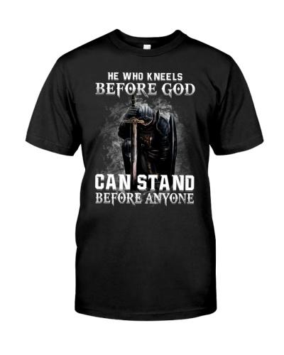 KNEELS BEFORE GOD - WARRIOR OF CHRIST