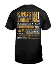KINGS ARE BORN IN JANUARY Classic T-Shirt back