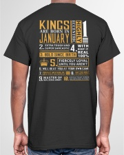 KINGS ARE BORN IN JANUARY Classic T-Shirt garment-tshirt-unisex-back-04