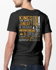 KINGS ARE BORN IN JANUARY Classic T-Shirt lifestyle-mens-crewneck-back-5