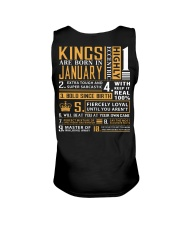 KINGS ARE BORN IN JANUARY Unisex Tank tile