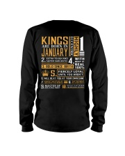 KINGS ARE BORN IN JANUARY Long Sleeve Tee thumbnail