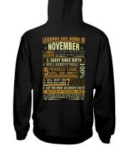 LEGENDS ARE BORN IN NOVEMBER Hooded Sweatshirt thumbnail
