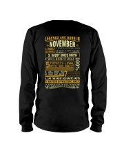 LEGENDS ARE BORN IN NOVEMBER Long Sleeve Tee thumbnail