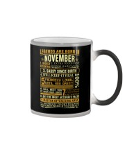 LEGENDS ARE BORN IN NOVEMBER Color Changing Mug thumbnail
