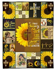 """JANUARY GIRL CAN DO ALL THINGS THROUGH CHRIST Small Fleece Blanket - 30"""" x 40"""" front"""